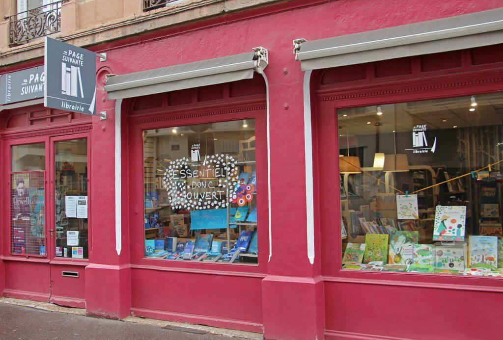 Devanture librairie La Page Suivante - Lyon 6